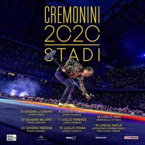 Le date del tour degli stadi di Cesare Cremonini in partenza dal 2020